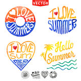 Abstract wtercolor card,background.Summer logo Stock Image