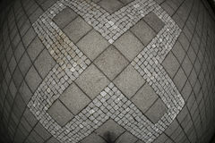 Abstract X symbol on concrete tile Royalty Free Stock Photography