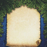 Abstract Xmas backgrounds with vintage parchment Stock Photo