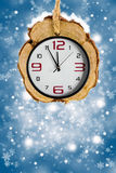 Abstract Xmas backgrounds with watches Royalty Free Stock Photo