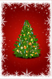Abstract xmas card in christmas card royalty free illustration