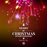 Abstract Xmas firework at dark red space background Royalty Free Stock Images