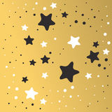 Abstract Xmas golden star background design wallpaper space graphic art vector illustration. Stock Images