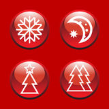 Abstract Xmas icons Stock Photos