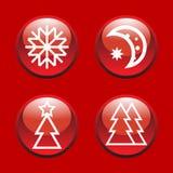 Abstract Xmas icons Stock Photos