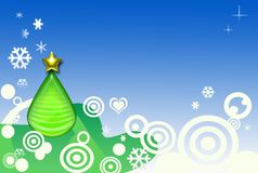 Abstract xmas tree Stock Photo