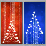 Abstract Xmas Tree Banners Royalty Free Stock Image