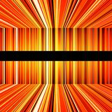 Abstract Yellow And Orange Warped Stripes Stock Images