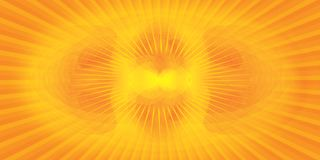 Abstract yellow background. Abstract yellow and orange radiation background Stock Illustration