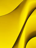 Abstract yellow background. An abstract composition based on yellow wavy lines and soft shadows royalty free stock images