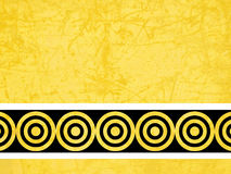 Abstract Yellow Background. Illustrated yellow background with circles stock illustration