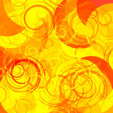 Abstract yellow background. With some circles in it Stock Photo