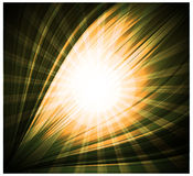 Abstract yellow background Beautiful rays of light Stock Image