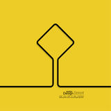 Abstract yellow background with black signs. Royalty Free Stock Photography