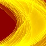 Abstract yellow background. Bright yellow lines. Geometric pattern in yellow and brown colors. Digital art Stock Photos