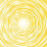 Abstract yellow background composition of thin irregular circle Royalty Free Stock Photo
