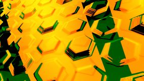 Abstract yellow background 3d rendering. Abstract yellow geometric futuristic background 3d rendering computer simulation Stock Photo