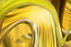Abstract yellow background. Abstract yellow gold wave curves background Stock Photo