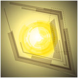 Abstract yellow background with light Stock Image