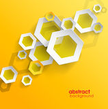 Abstract yellow background with place for your text. Stock Photography