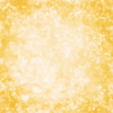 Abstract Yellow Background with Sparkle and Glitter Stock Photography