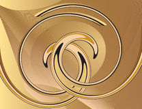 Abstract yellow background with spirals Stock Images