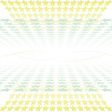 Abstract yellow background stars. With perspective effect Royalty Free Stock Photography