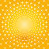 Abstract yellow background. With stars Royalty Free Stock Photos