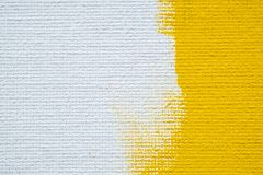 Abstract yellow background white grunge border yellow color with white canvas edges, vintage grunge background texture royalty free stock image