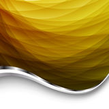 Abstract Yellow Background With Wave. Vector Illustration Royalty Free Stock Photo