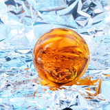 Abstract yellow ball. Abstract light around a yellow crystal ball Royalty Free Stock Photo
