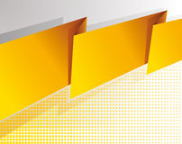 Abstract yellow banner. Background Royalty Free Stock Photography