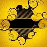 Abstract yellow-black background. Raster version of vector abstract yellow-black background Royalty Free Stock Photo