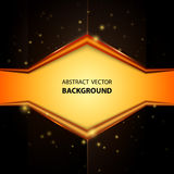 Abstract yellow and black background Stock Images