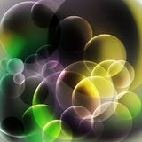 Abstract Yellow and Black Bubbles Background Royalty Free Stock Image
