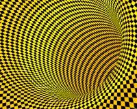 Abstract yellow black creative techno tunnel Stock Image