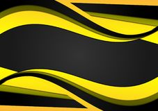 Abstract yellow and black geometric background with copy space, Vector illustration.  vector illustration
