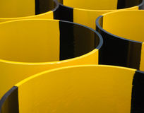 Abstract yellow and black pipes Stock Photos