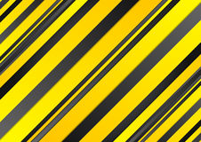Abstract yellow and black stripes background. Abstract yellow and black stripes corporate background. Vector graphic tech design Royalty Free Stock Images
