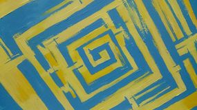Abstract. Yellow and blue abstract Stock Photos