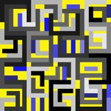 Abstract yellow blue gray background in cubist style Royalty Free Stock Image