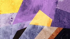 Abstract Yellow Blue Purple Color Pattern Wallpaper Stock