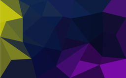 Abstract yellow, blue and purple geometrical background Stock Photography