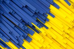 Abstract yellow and blue strip facture Royalty Free Stock Photo