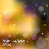 Abstract yellow blurred background, vector illustration, transpa Royalty Free Stock Images
