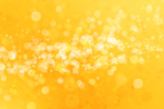 Abstract yellow bokeh background. Abstract defocused blurred yellow background, christmas lights Stock Photography