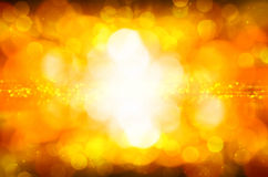Abstract yellow bokeh background Stock Photography