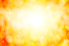 Abstract yellow bokeh background Stock Photo