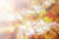 Abstract yellow bokeh Christmas background. Modern simple flat s. Ign. Trendy valentine decoration symbol for website design Stock Photography