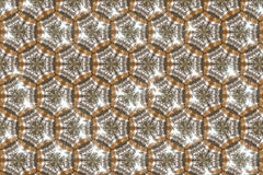 Abstract yellow - brown background. Abstract tile background with hexagonal tiles yellow brown Royalty Free Stock Images